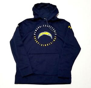 Los Angeles Chargers Under Armour Men's Size M Combine Pullover Hoodie $80