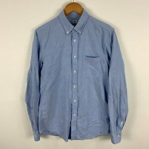 Uniqlo Mens Button Up Shirt Size S Small Slim Blue Long Sleeve Collared 231.18