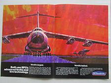 9/1969 PUB BF GOODRICH AEROSPACE WHEEL TIRE BRAKE LOCKHEED C-5A GALAXY YF-12A AD
