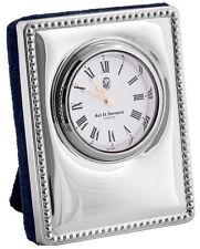 MINIATURE DESK CLOCK STERLING SILVER 925 HALLMARKED NEW FROM ARI D NORMAN