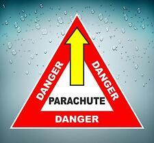 Autocollant sticker voiture avion aviation aeroport parachute danger