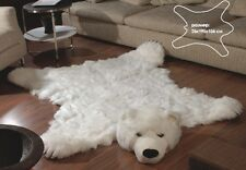 Fake Fur White Polar Bear Skin Bearskin Rug Large Size 76 7 61
