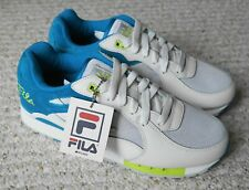 Fila Overpass White/Atomic Blue-Safety Yellow 1VR12012-167 Men's Shoes