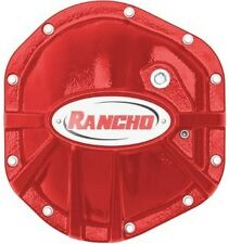 Rancho RockGEAR Dana 44 Diff Cover For 97-18 Jeep Wrangler TJ JK RS6209 Red
