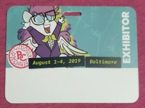 BronyCon 2019 Exhibitor Badge NEW UNUSED RARE COLLECTABLE Brony Con MLP Pony