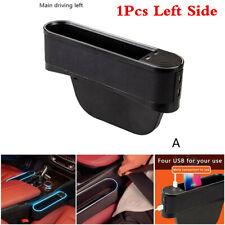 Left Car Seat Seam Storage Box With Atmosphere Lamp 4 USB Interior Accessories