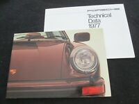 1977 Porsche Large 911 Sales Catalog '77 911S S & 930 Turbo Carrera US Brochure