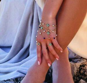 APM MONACO -Adjustable Dainty ROMA Hand Bracelet with Ring