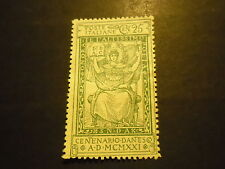 REGNO ITALIA 1921 DANTE 25 CENT. NUOVO LINGUELLATO -  ALLEGORIA DELL'ITALIA  T