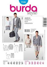 BURDA SEWING PATTERN MENS FITTED SUIT PANTS & Bermuda shorts 34-44 7046
