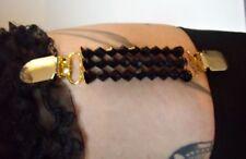 1 Porte Jarretelle à l'unité élastiques perles noires glamour pinup sexy