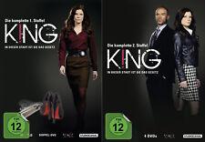 King - In dieser Stadt ist Sie das Gesetz - 1 u. 2 Staffel - 6 DVD - 2 Boxen