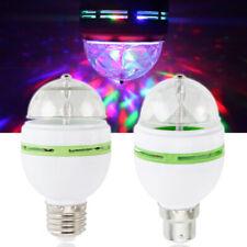 3 Вт E27 Rgb хрустальный шар авто вращающийся светодиодный осветитель лампы диско вечеринки лампа