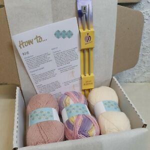 Knitting STARTER kit Ideal for beginner yarn, needles