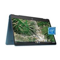 """NEW HP 14"""" HD X360 2-in-1 TOUCH Intel N4020 2.8GHz 64GB SSD 4GB Blue ChromeOS"""