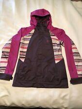 Women's Oakley Ski Snowboard Hooded Vented Jacket - Size L - Dk Purple/Pink/Gray