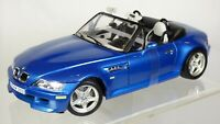 BURAGO BMW Z3 M 3.2 ROADSTER 1:18 96 BLUE WITH INDIVIDUAL WHITE INTERIOR TOY CAR