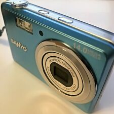 Sanyo VPC-E1500TP 14.0MP Digital Camera - Blue Tested Working