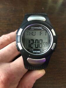 Bowflex WR30M Wristwatch New Batteries Chest Strap & Sensor