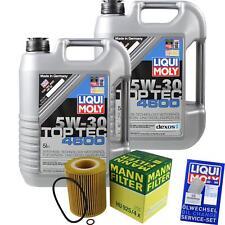 MANN-FILTER Set Ölwechsel 10L LIQUI MOLY 3756 Top Tec 4600 5W-30 MLM-9782052