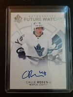 2017-18 UD SP Authentic Future Watch Rookie Auto CALLE ROSEN 168 #861/999 Rookie