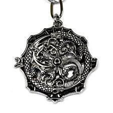 Gothic Kette Drache Echse Talisman Drachen Stern Infinity Zeichen schwarz Band