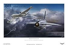 English Electric Lightning & Canberra RAF Digital Art Print