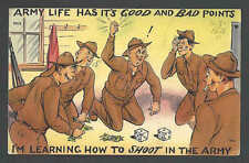 1941 PPC* WW2 Learning How To Shoot In The Army (Dice Game) Posted