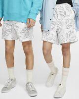 Nike SB Skate Shorts Men's White Black Sportswear Casual Activewear