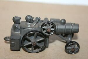 NICE VINTAGE SLUSH MOLD 1930'S CASE STEAM ENGINE WITH TWO DRIVERS