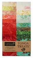 Timeless Treasures Tonga Treats Treat Jr. Batik Strip, POPPY, Jelly Roll, Rollup
