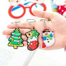 HOT Handbag Xmas Gift Deer Keychain Santa Claus Baer Keyring Snowman Key-Ring ~