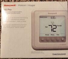 New in Box Honeywell T6 Pro Programmable Digital Thermostat TH6210U2001