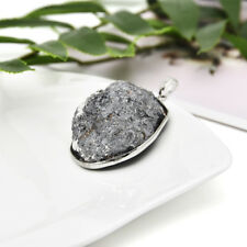Natural Crystal Agate Geode Stone Pendant Bead For DIY Necklace Jewelry Making