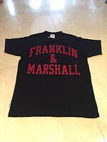 Franklin & Marshall Men's Logo T Shirt Emboidered Black