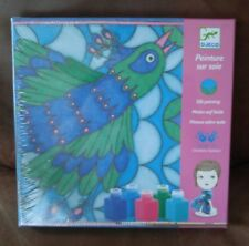 Djeco DJ09850 Peacock Silk Painting Art Kit Hand Painted Scarf Charlotte Gastaut