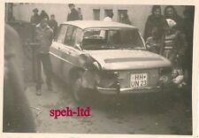 Original Foto / Auto, PKW aus HH, Kleinwagen mit Unfall im Ausland