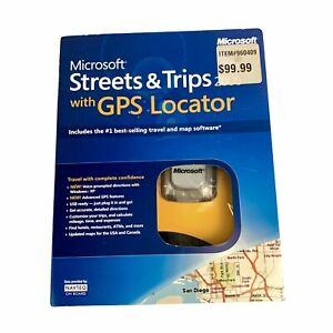 Microsoft Streets and Trips With GPS Locator Travel And Map Software Open Box