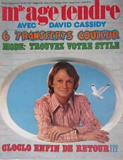 Mlle Age Tendre n° 118 Septembre 1974 Poster Claude François, France Gall, Borg
