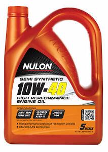 Nulon Semi Synthetic High Performance Engine Oil 10W-40 5L SEM10W40-5 fits Ma...