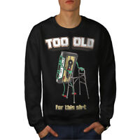 Wellcoda 9s Style Mens Sweatshirt, Throwback Funny Casual Pullover Jumper