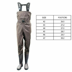 Waterproof Nylon Chest Fishing Wader PVC Boots Rafting Wading Hunting All Sizes