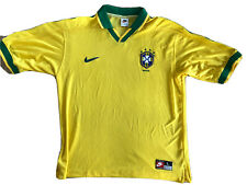 BRAZIL Vintage Nike Home Football Shirt Jersey 1997/98 (L) Ronaldo Romario Era