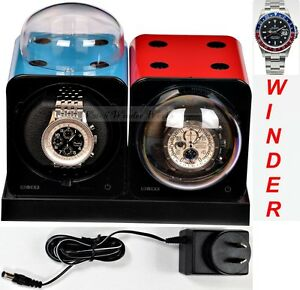 Fancy Brick Dual Automatic Watch Winder system-model: 2FB-E2-CLRS,expand to 6x