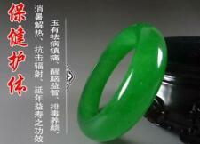 Chinese Natural Beautiful Emerald Green Nephrite Jade Bangle Bracelet  64mm