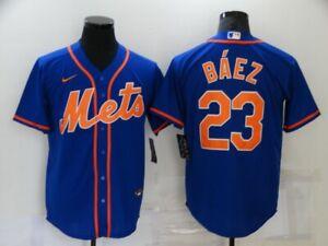 #23 New York Mets Javier Baez Men's Jersey USA SIZE