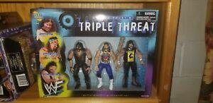 WWF JAKKS TRIPLE THREAT WRESTLING FIGURE BOX SET DUDE LOVE CACTUS JACK MANKIND