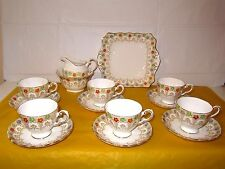 Plant Tuscan China Chintz Flowers Handpainted Part Tea Set for 6,  used in VGC