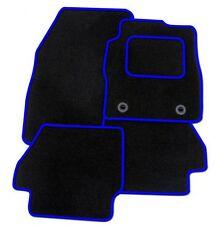 FIAT GRANDE PUNTO 2006 su COMPLETAMENTE SU MISURA tappetini AUTO-Tappeto Nero con Bordo Blu