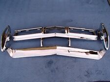 1967 CADILLAC DEVILLE 4-PIECE REAR BUMPER TRIPLE CHROME SHOW QUALITY